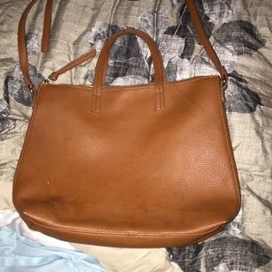Faux Leather Purse or Small Laptop Bag.